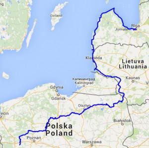 Route polen litouwen letland
